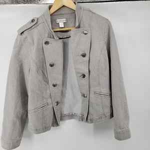 Christopher & Banks Soldier Jacket